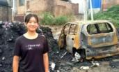 雄安19岁少女冲进火海救被困司机
