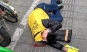 上海一共享单车运维人员被同行打致头破血流
