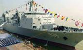 一年服役一个舰队:中国海军2017年添16艘新舰
