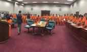 美国非法移民被集体宣判画面