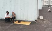 男子将80多岁母亲留在屋顶外出引众怒