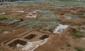 北京现大型墓葬群 坑内骸骨依稀可见