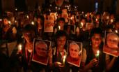 印度前总理瓦杰帕伊去世 民众悼念