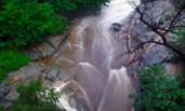 山东:雨中泰山重现飞瀑奇观