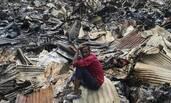 孟加拉国首都一贫民窟发生火灾