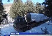 东风-31林海雪原演练实战发射 精准摧毁目标