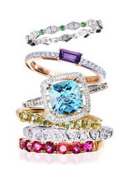 彩虹糖一样的珠宝