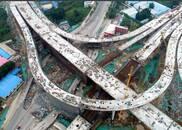 济南最高立交桥主体现身