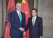 李克强会见阿尔巴尼亚总理拉马