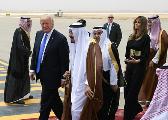 特朗普携第一夫人抵达沙特 开启其首次出访