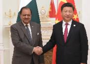 习近平在青岛会见巴基斯坦总统侯赛因