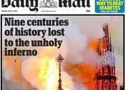 全球报纸头版:世界为巴黎圣母院哭泣