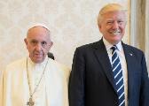 特朗普会见教皇方济各 承诺出资3亿美元应对饥荒