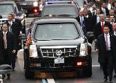 特朗普座驾被拒进比利时王宫:尺寸太大开不进去