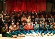 松山芭蕾舞团访中演出前彩排《新白毛女》