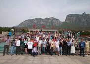 参加2018中国(郑州)国际旅游城市市长论坛的国际旅行商走进云台山