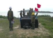 解放军演习前一天 台军发射火箭弹