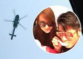[花式]郭富城方媛疑乘直升机抵达婚礼现场