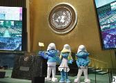 《蓝精灵》演员牵手联合国 助力可持续发展