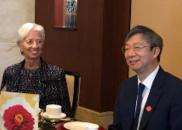 IMF总裁与中国两任央行行长参加宴会 说了这些话(图)