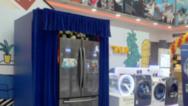 美式style 三星自由空间冰箱双驱洗衣机上市