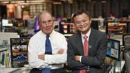 马云访问彭博社纽约总部 与彭博社创始人聊环保和教育