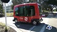 美加州首批无人公交车上路测试:无方向盘和刹车踏板