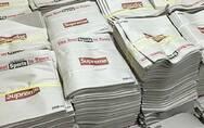 《纽约邮报》印上了Supreme的logo后贵了40倍,但还是有土豪一捆捆地买