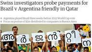 曝卡塔尔借友谊赛贿赂巴阿足协 出场费问题被调查