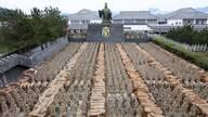 安徽现中国最大山寨兵马俑坑 原比例复制(图)