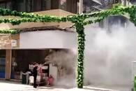 超市突然失火 硚口城管协管员疏散顾客及时冲进浓烟中灭火