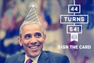 奥巴马54岁啦,当7年总统人苍老了头发也白了一茬(图)
