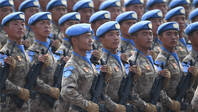維和部隊方隊首次亮相國慶閱兵