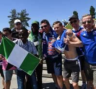 尼日利亚vs冰岛赛前 维京战吼感受一下