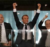 [一汽丰田特约]法国总统比利时皇室观战 马克龙振臂欢呼