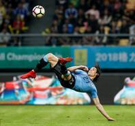 中国杯-卡瓦尼倒挂金钩 乌拉圭2-0捷克