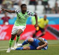 穆萨梅开二度 尼日利亚2-0冰岛
