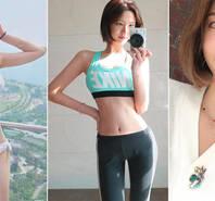 韩国妹子秀运动自拍 泳装出镜清纯可人