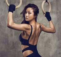 韩国健身女神性感照 浑圆半球外露
