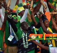 塞内加尔球迷载歌载舞 演绎特兰伽雄狮