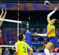 中国女排0-3惨败东道主巴西
