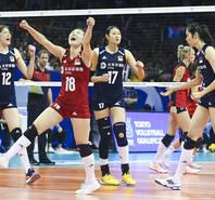 中国女排3-1德国 获资格赛连胜