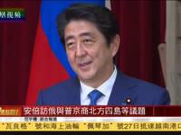安倍访俄与普京举行会谈 商讨北方四岛等议题