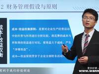 万门大学财务管理1.2财务管理假设与原则则