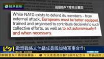 欧盟官员称安全上不能再靠北约 或成立军队