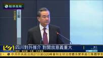 外交部四川推介会 王毅:对外开放意义重大
