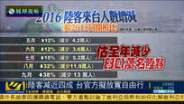 陆客人数减少近四成 台湾官方拟放宽自由行