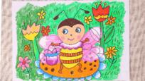 小爱的手作日记 儿童画勤劳的小蜜蜂图片