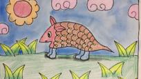 卡通动物简笔画教程:教你快速画出可爱穿山甲图片