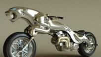 大叔模仿捷豹,发明豹子摩托车,卖57万美元你怎么看